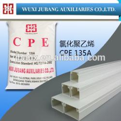 Chine fournisseur polyéthylène chloré CPE 135A pour ligne fente