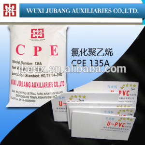 Cpe-135a, goma auxiliar agentes para upvc, gran densidad