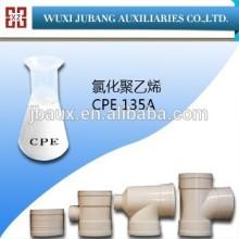 Polyéthylène chloré utiliser comme PVC impact modificateur