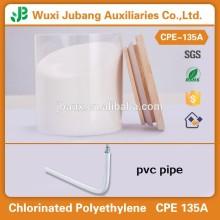 Polyéthylène chloré CPE 135A matières premières pour profilés en PVC et tuyaux