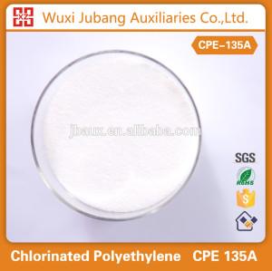 Pvc aditivos, modificador de impacto, cpe135a polvo blanco 99% de pureza