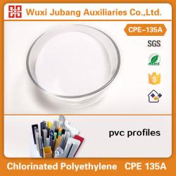 Venta al por mayor fábrica de la alta calidad clorado addtive CPE 135A para perfiles de pvc