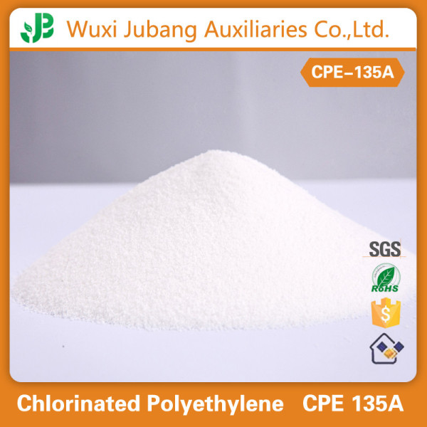 Chemische auxiliarir aget, kunststoff schlagzähmodifikator chloriertes polyethylen cpe 135a für draht und kabel