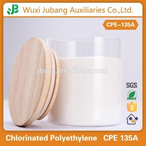 Certificated CPE 135A Rubber Raw Material,High Tensile Strength Chemical Composition of PVC