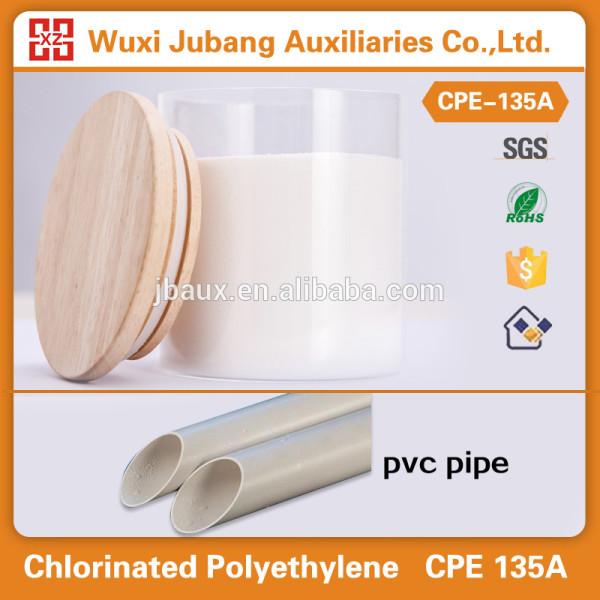 Materiais químicos, pvc modificador de impacto, cpe135a para tubo de pvc