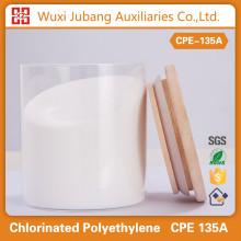Chimique impact modificateur polyéthylène chloré CPE 135A pour PVC film rétractable