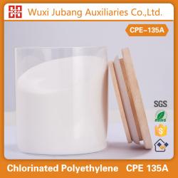 Agente auxiliery plástico polietileno clorado cpe135a modificador de impacto de trunking
