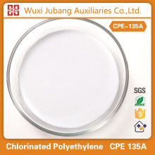 Prix concurrentiel chimique impact modificateur polyéthylène chloré CPE 135A pour tuyaux en pvc
