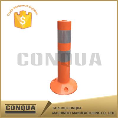 orange pe pu flexible traffic warning post