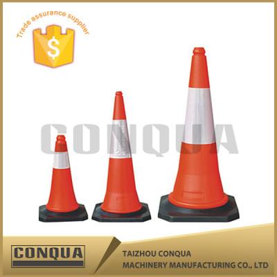 28 Inch Black Base Wide Interlock PVC Traffic Cone
