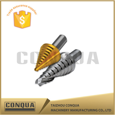 tungsten steel bright finished straight flute step drill bits