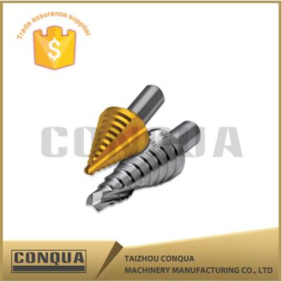 tungsten steel spiral flute tin-coated step drill