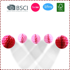 Tissue Paper Honeycomb Balls Set