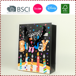Wholesale Happy Birthday Paper Gift Bags