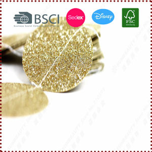 Gold Glitter Paper Circle Garland