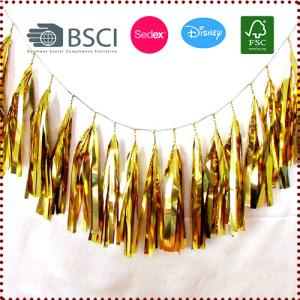15 PCS Gold Foil Tassel Garland Set (Fringe Bunting)