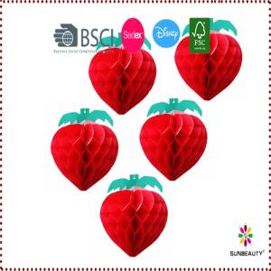 5pcs Honeycomb Strawberry Decoration