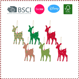 6pcs Christmas Decoration Hanging Paper Deer