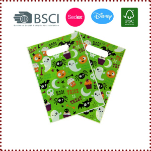 20pcs Cute Green Halloween Trick or Treat Bags