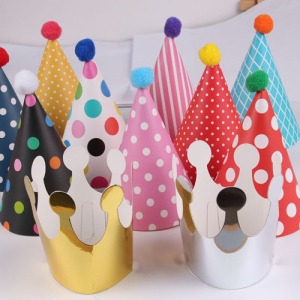 11pcs Polka Dot Birthday Party Hats