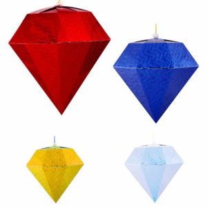 Pendant Centerpiece Hanging Paper Diamonds