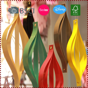 10pcs Geometric Curves Onion Shape Hanging Paper Strip Ornaments