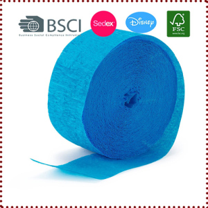 10m/Roll Blue Crepe Paper Streamers