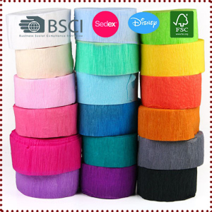 10m/Roll Crepe Paper Streamers