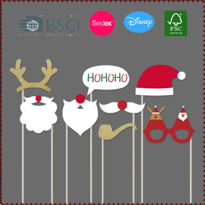 8pcs Christmas Photo Booth Props