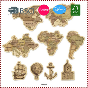 Vintage Travel Theme World Map Banner