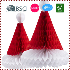 3pcs Christmas Honeycomb Santa Hats