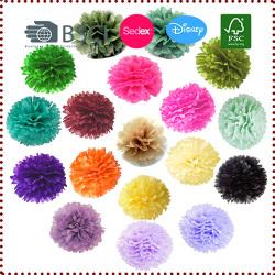 5pcs 20cm Tissue Paper Pom Poms Flower Balls