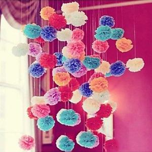 5pcs 15cm Tissue Paper Pom Poms Flower Balls