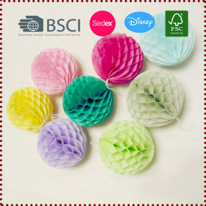 5pcs 8cm Tissue Paper Honeycomb Balls Decorations