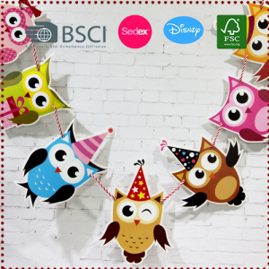 Owl Cartoon Garland
