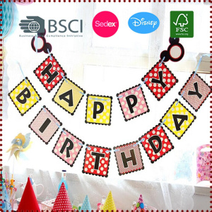 Disney Theme Mickey Happy Birthday Bunting
