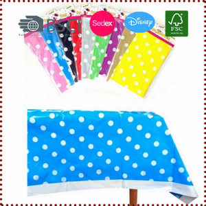 Polk Dots Plastic Tablecloth