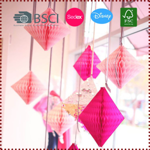 Tissue Paper Diamond Decoration