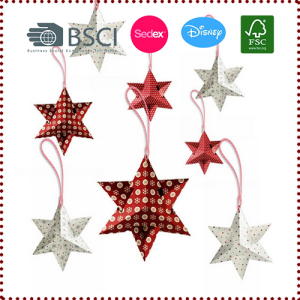8pcs 6'' Six-pointed Paper Stars