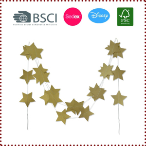 4m Gold/Silver Star Garlands
