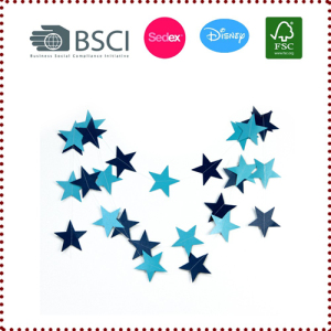 4m Blue Star Garlands