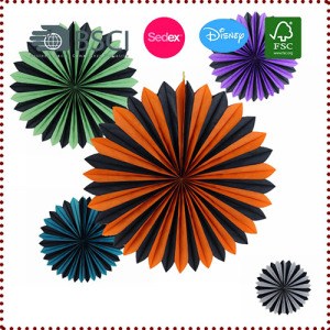 Halloween Party Mix-color  Paper Fans