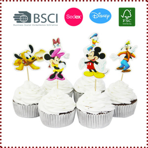 24pcs Mickey Mouse Minnie Cupcake Toppers