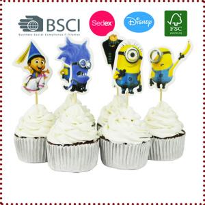 24pcs Me Gru Minion Cupcake Toppers