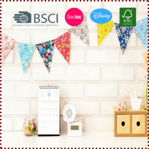 Triangle Floral Flag Bunting