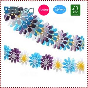 4.5m 3D Tissue Paper Flower Garland