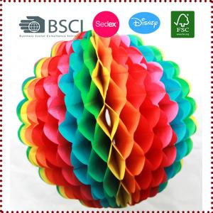 25cm Multicolor Tissue Paper Rainbow Honeycomb Ball