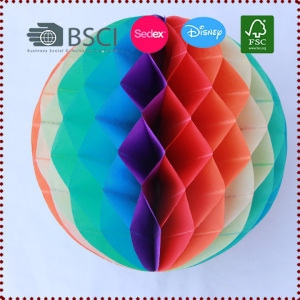 30cm Multicolor Tissue Paper Rainbow Honeycomb Ball