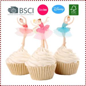 Ballerina/Ballet Dancer Cupcake Toppers