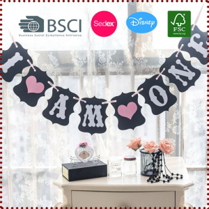 Baby Girl/Boy First Birthday Banner I AM ONE